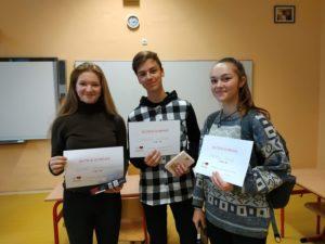 Školní kolo Olympiády v německém jazyce